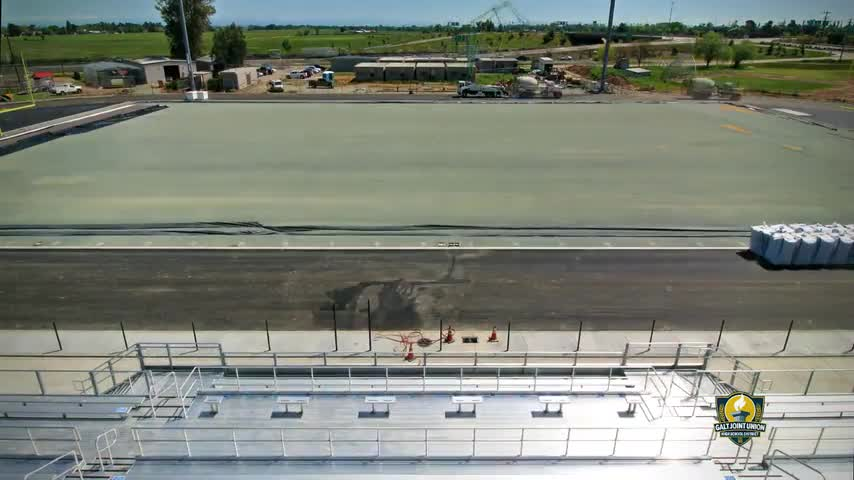 Galt High School Stadium - Contruction Time Lapse