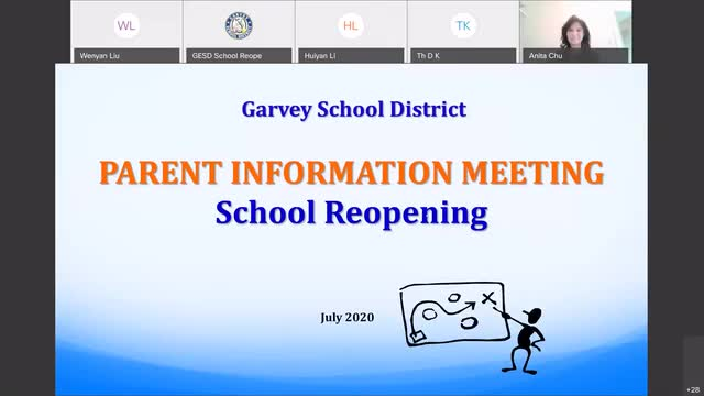 Parent Information Meeting (2020 School Reopening): English and Vietnamese