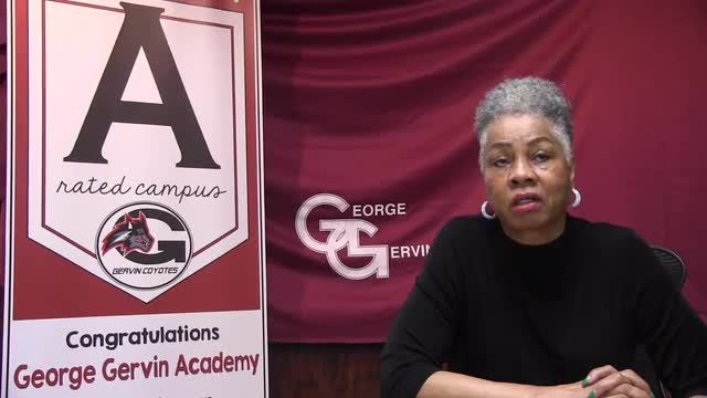 Video message From George Gervin Academy Superintendent, Frances Boynes