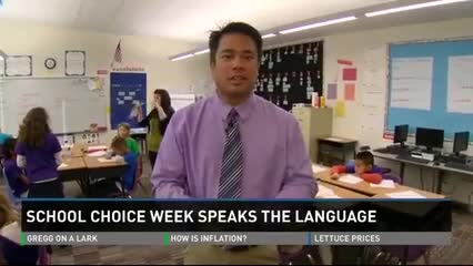 9 news school choice week interview