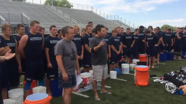 Football Team Accepts Ice Bucket Challenge