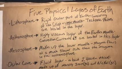 Physical Layers of Earth Notes  3-23-20  Video  3 of 4