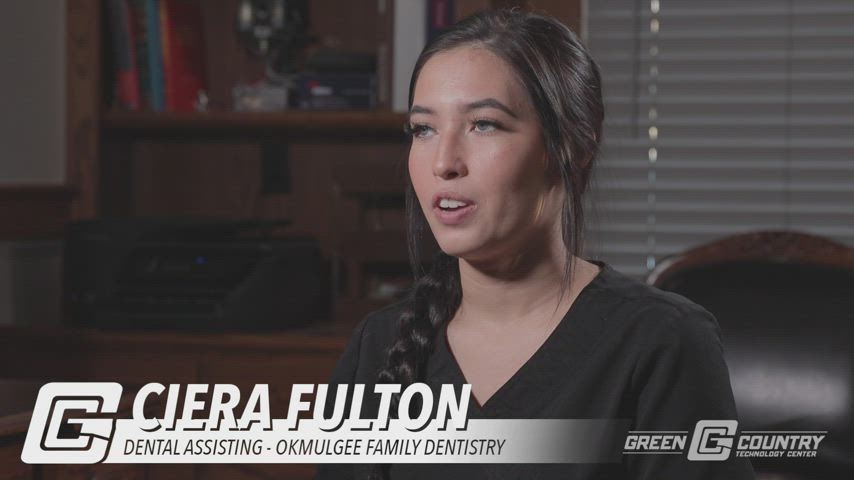 Video about a graduate of the Dental Assisting Program at GCTC