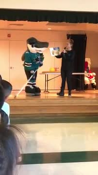 Video of Sharkie and the Reading is cool program.