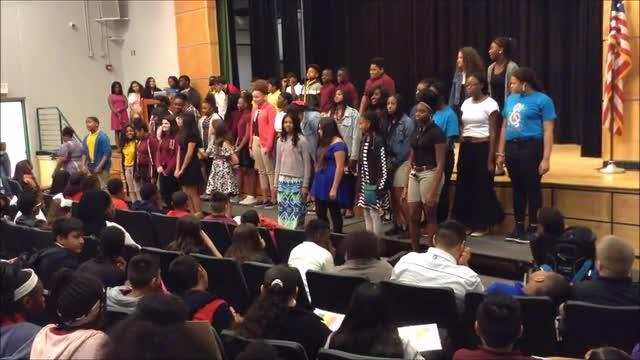 HRMS Chorus performs