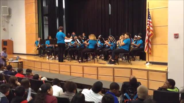 HRMS Advanced Band performs at Hispanic Heritage Day