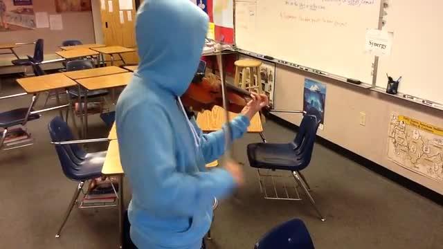 Unknown violinist shreds during snack break..room 208