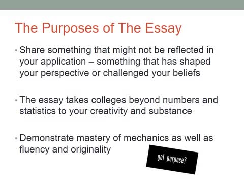 How To Write A Proposal For An Essay  English Essay Examples also Descriptive Essay Topics For High School Students Writing The College Essay   Hopewell Valley Central  How To Write A Thesis For A Persuasive Essay