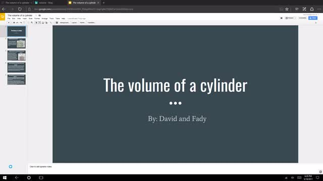 LT-9B: volume of a cylinder