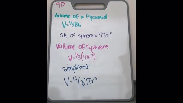 LT-9D: volume of a sphere