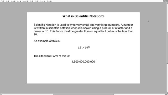 LT-10D: scientific notation and standard form