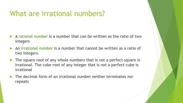 LT-8B: irrational numbers