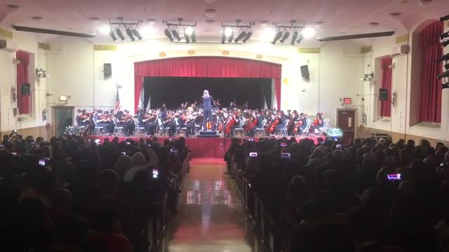 Video of 100 piece symphony performing