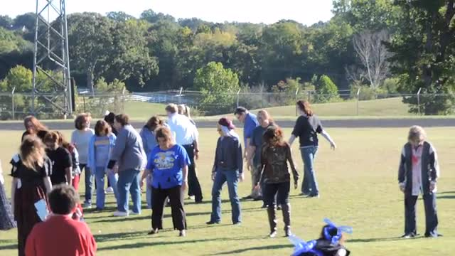 Zombie pep rally at JHS