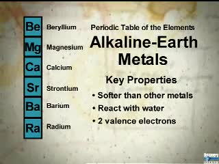 alkaline earth metals video jacksonville high