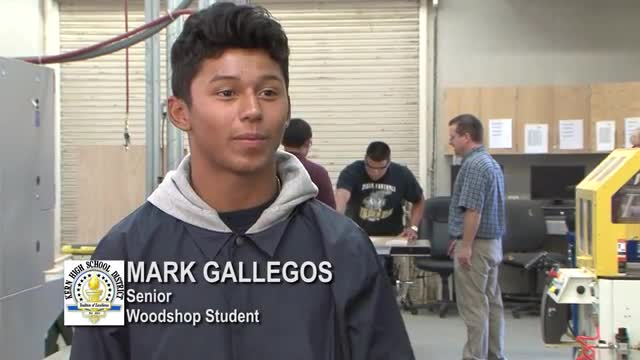 Woodshop students profiled for video