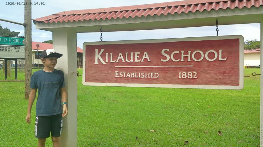 The Kilauea School Gifted and Talented students created a campus tour video.