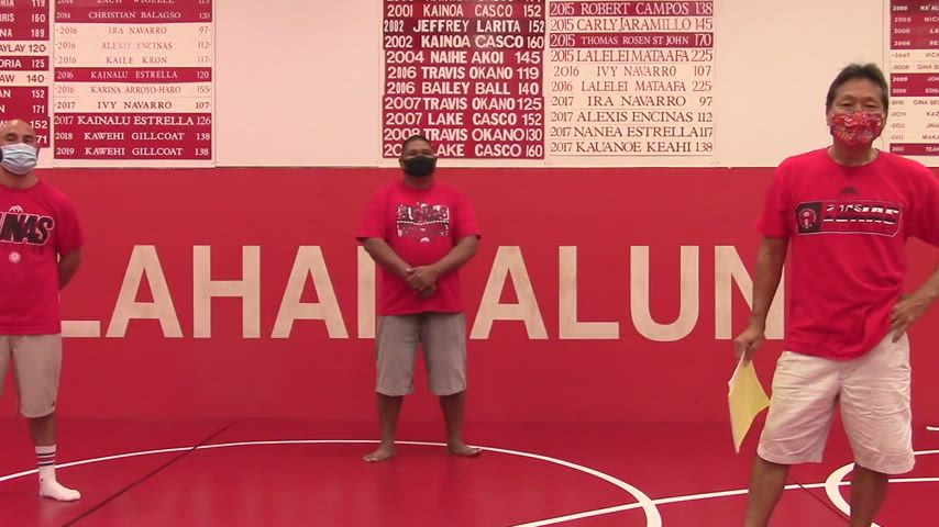 Lahainaluna High School Wrestling Placers 2020 Virtual Board Unveiling and Speeches