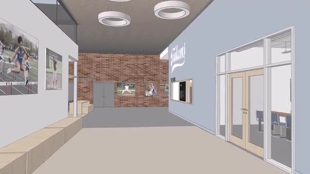 Walk through virtual tour from the front entrance through the hallways, locker rooms, and fitness center of the Saalfeld Athletic Center
