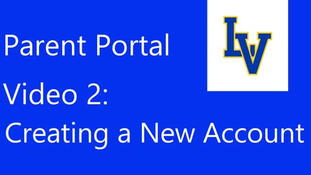 Parent Portal - Creating a New Account