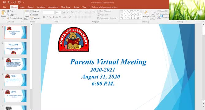 Lower Lee parent virtual experience