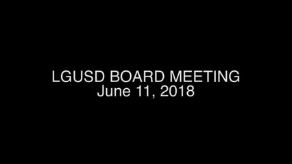 Board Meeting Recording for June 11, 2018