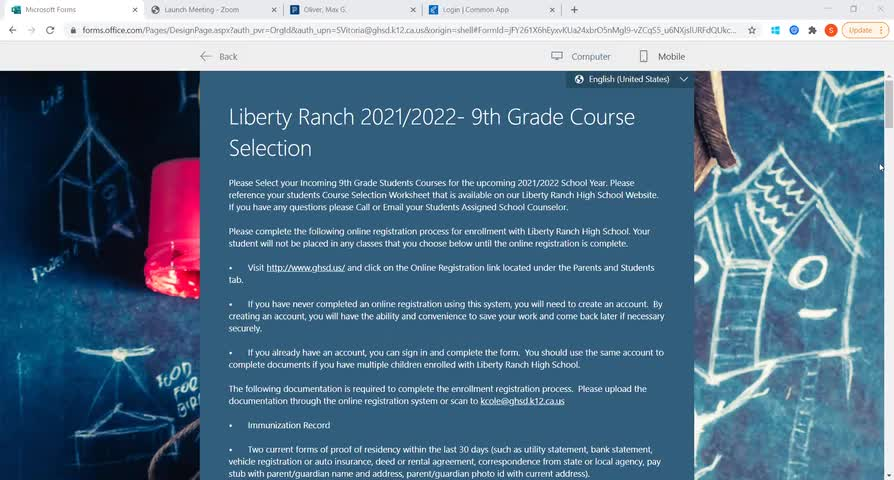 LRHS 9th Grade Course Selection Tutorial Video