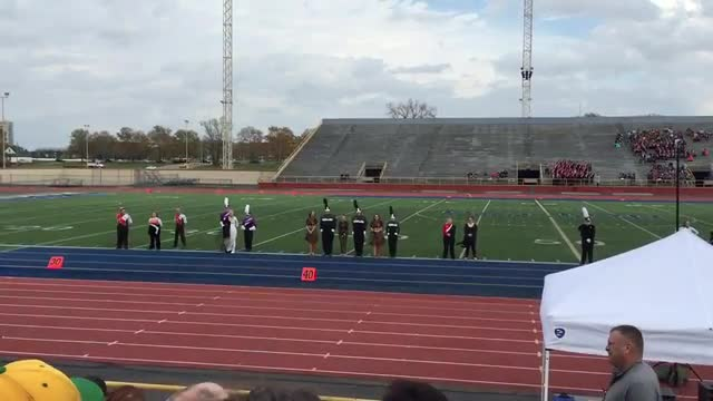 Madison marching band receiving a superior rating