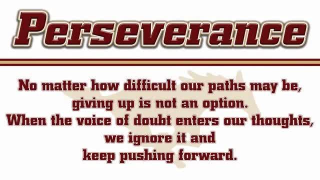 Mustang PRIDE: Perseverance Focus