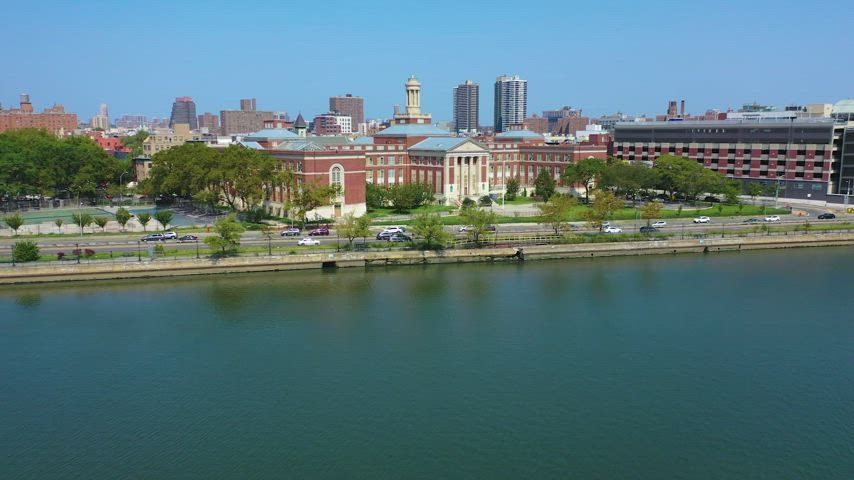 Drone shoot of campus