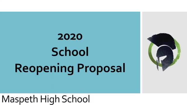 Maspeth High School Reopening Plan
