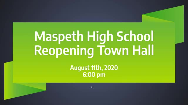 video of Maspeth High School Reopening Town Hall