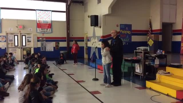 A compilation of events McAuliffe had for red ribbon week.
