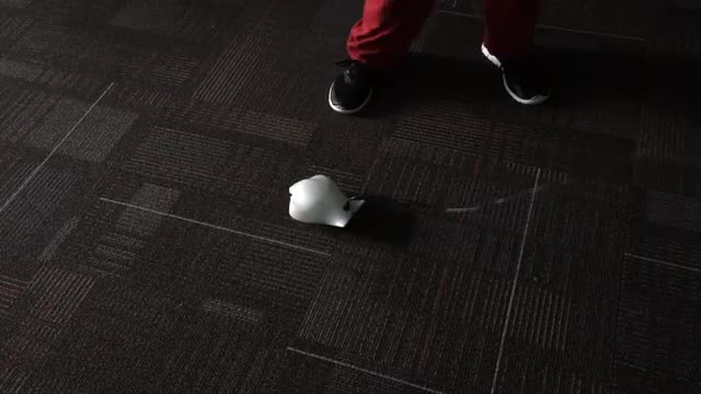 Children using finch robots in the library