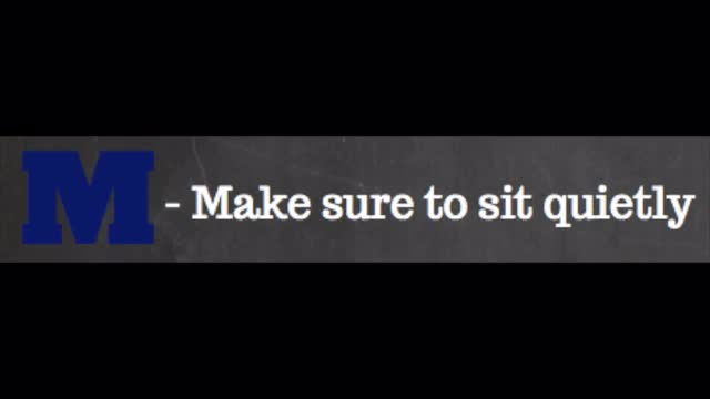 Make Sure to Sit Quietly