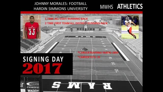 2017 Signing Day for MWHS Athletes