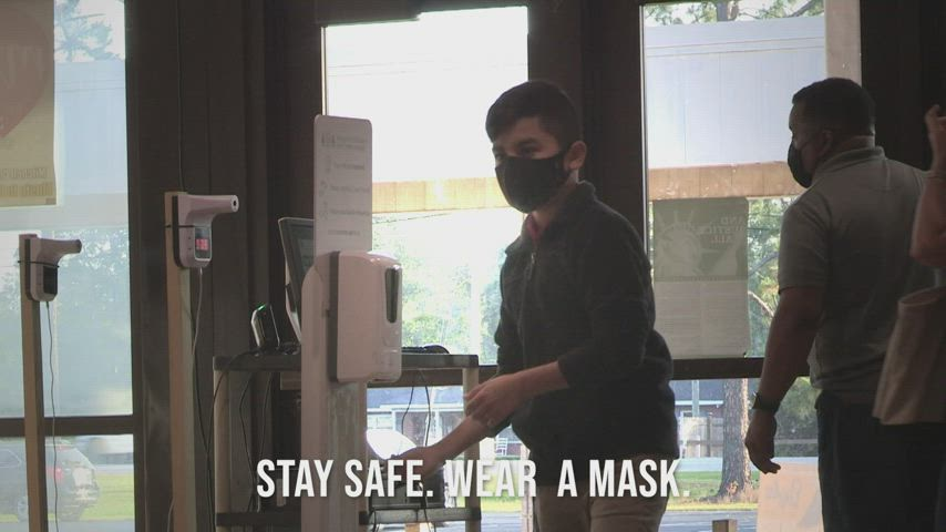 Remember to wear a mask.
