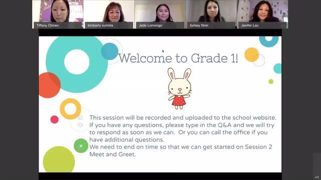 Grade 1 Meet and Greet video