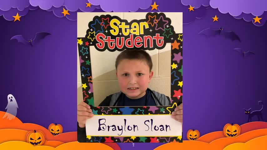 October 2020 Student of the Month Video