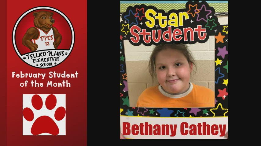 Video of February 2021 Students of the Month at TPES