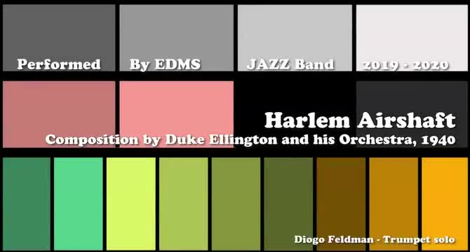 Easterbrook Discovery Middle School Jazz Band Performs Harlem Airshaft Over Zoom (Spring 2019/2020)