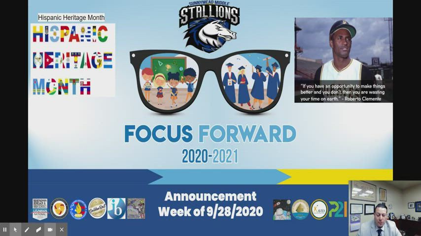 Announcements for Sunnymead Middle School for the Week of September 28