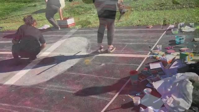 Chalk Drawing contest Fall 2018