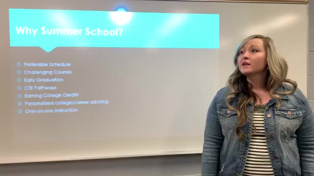Mallory Essman gives presentation on Advanced Opportunities Summer School
