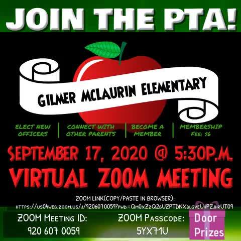 McLaurin Elementary School September PTA