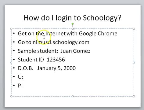 How do I login to Schoology?