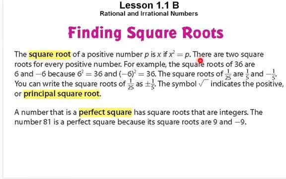 Lesson 11 B Video 1 Nobel Middle School