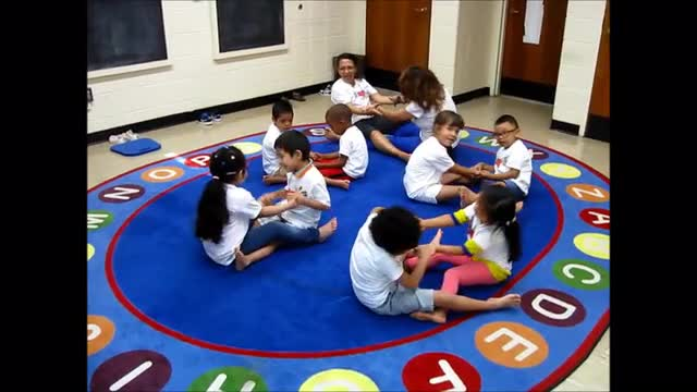 NYISE's Readiness 3 and 4 year olds doing their morning Yoga practice.