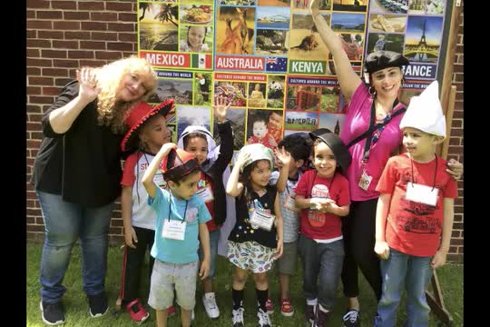Fun Day Travel On Video: The photo booth of this year's theme was travel and photos with cultural headwear. The kids and staff had lots of fun.