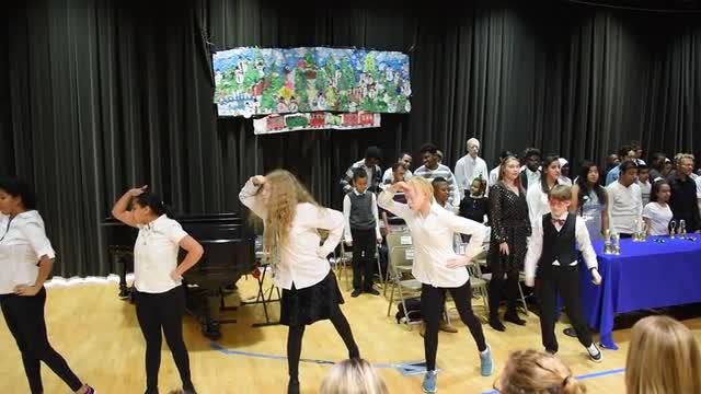 A dance performed by Iliana, Jamila, Zoe, Lizmary, Leeah